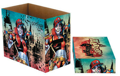 DC Comics Harley Quinn / Gotham City Short Comic Storage BOX