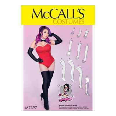McCalls Sewing Pattern M7397 Misses' Gloves, Arm Warmers, Leg Warmers, Stocki...