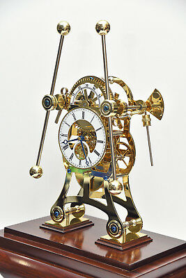 John Harrison Grasshopper Clock  Rare built in flying tourbillon Skeleton