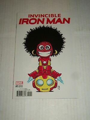 Marvel INVINCIBLE IRON MAN (2016) #1 Skottie Young Baby Variant NM/M