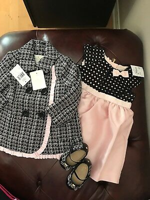 Lot Of 3 Kate Spade New York Baby Little Girls Tweed Coat: Dress:shoes::12M: Nwt