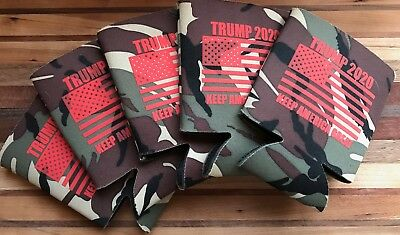 President Donald Trump can koozie FOUR Camouflage KEEP AMERICA GREAT Coozie