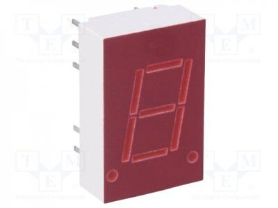 1 pcs Display: LED; 7-segment; 10.9mm; red; 0.34-0.8mcd; cathode; 0.43""