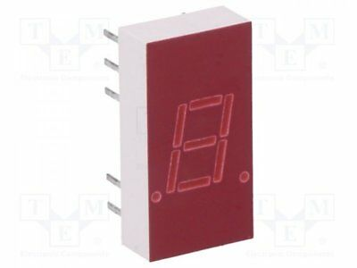 1 pcs Display: LED; 7-segment; 7.6mm; red; 0.34-0.8mcd; anode; No.char:1