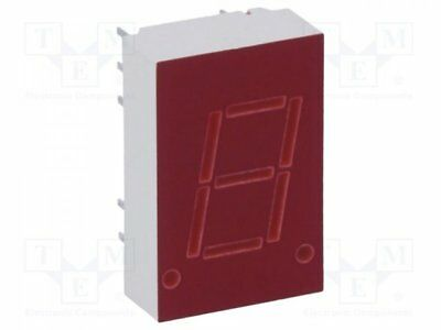 1 pcs Display: LED; 7-segment; 10.9mm; red; 0.34-0.8mcd; anode; No.char:1