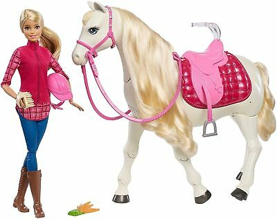 Barbie Dream Horse & Doll Interactive Kids Girls Walking Horse - BRAND NEW
