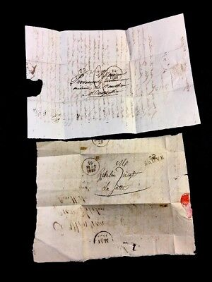 Lot Of Two Letters  1828
