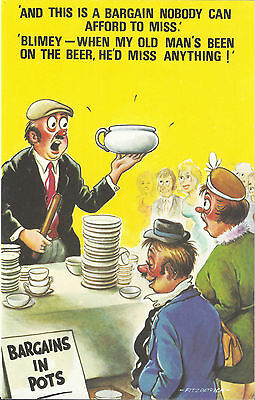 Vintage 1970's Bamforth COMIC Postcard (as new condition) miss anything #436