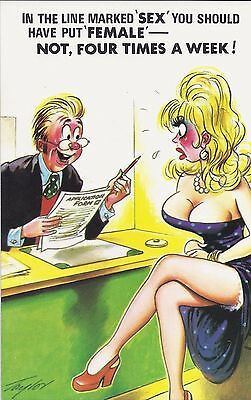 Vintage 1970's Bamforth COMIC Postcard (As new condition) Four times a week #486
