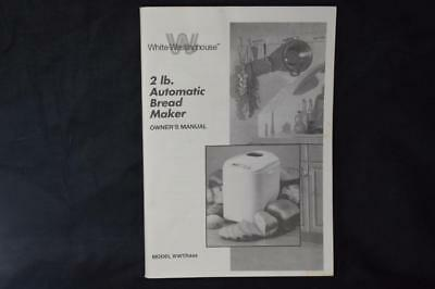 Westinghouse bread machines | ebay.