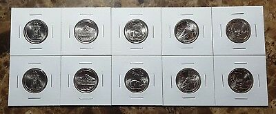 """2010 USA National Park """"America the Beautiful'"""" P&D 10 Coin Set!!"""