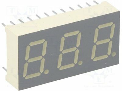 1 pcs Display: LED; 7-segment; 10.2mm; orange; 52-160mcd; anode; 0.4""