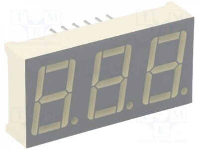 1 pcs Display: LED; 7-segment; 14.2mm; green; 3-10.5mcd; anode; No.char:3