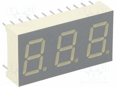 1 pcs Display: LED; 7-segment; 10.2mm; red; 21-56mcd; anode; No.char:3