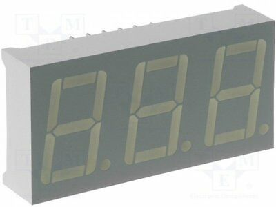 1 pcs Display: LED; 7-segment; 14.2mm; yellow; 1.9-4.7mcd; anode; 0.56""