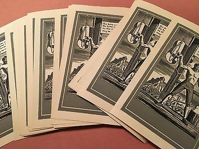 Rockwell Kent 26 Vintage Book Plates (Identical) in Original Box The Hangman!