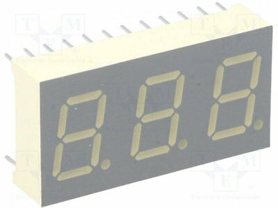 1 pcs Display: LED; 7-segment; 10.2mm; yellow; 52-92mcd; cathode; 0.4""