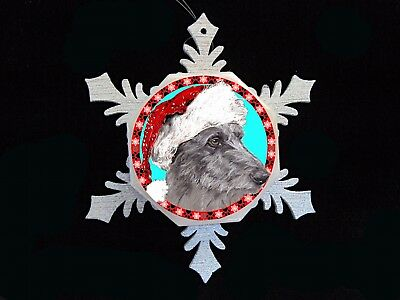 Scottish Deerhound Original Art Christmas Ornament