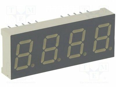 1 pcs Display: LED; 7-segment; 10mm; red; 8-18mcd; anode; Dim:16x40.4mm