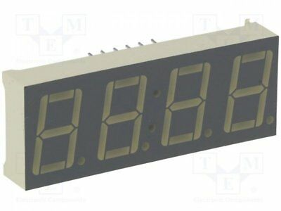 1 pcs Display: LED; 7-segment; 14mm; green; 3-10.5mcd; anode; No.char:4