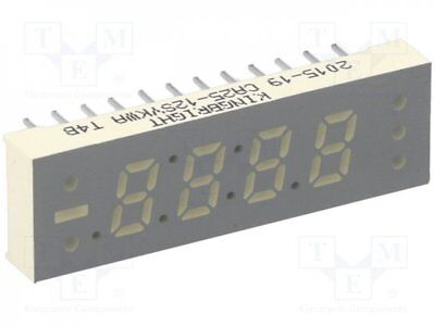 1 pcs Display: LED; 7-segment; 6.2mm; yellow; 52-110mcd; anode; No.char:4