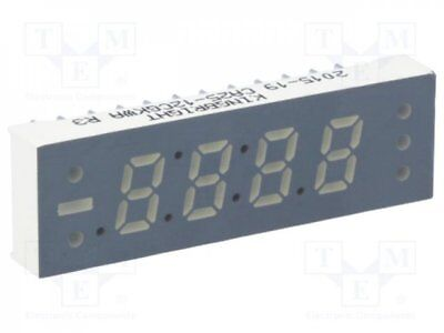 1 pcs Display: LED; 7-segment; 6.2mm; green; 14-34mcd; anode; Dim:11x36mm
