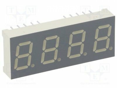1 pcs Display: LED; 7-segment; 10mm; red; 8-18mcd; cathode; Dim:16x40.4mm