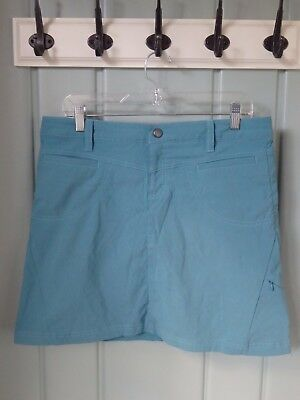 Athleta Blue Dipper Stretch Skirt Skort Turquoise Size 10 Hiking Golf Camping