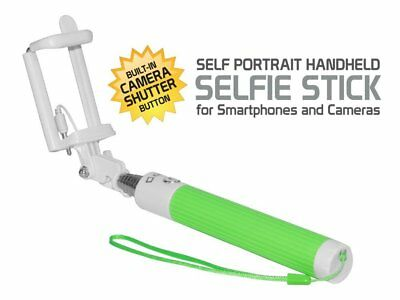 Blackberry KEYone Compact Green Aux Cable Selfie Stick – No Charging Needed