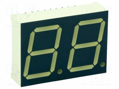 1 pcs Display: LED; 7-segment; 20mm; red; 8-24mcd; anode; No.char:2; 0.8""