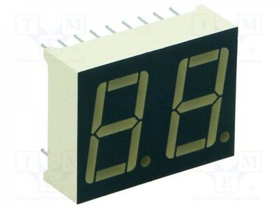 1 pcs Display: LED; 7-segment; 14mm; red; 0.9-2.2mcd; anode; No.char:2