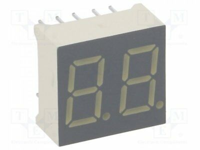 1 pcs Display: LED; 7-segment; 9.2mm; red; 0.8-3.6mcd; anode; Dim:14x15mm