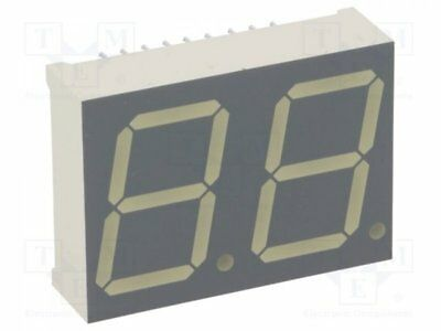 1 pcs Display: LED; 7-segment; 20mm; green; 3-10.5mcd; anode; No.char:2