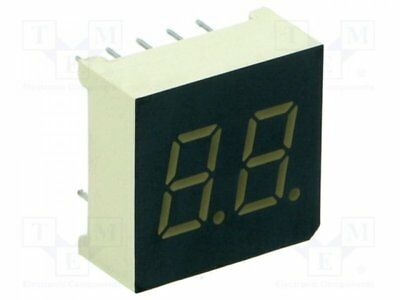 1 pcs Display: LED; 7-segment; 7.6mm; red; 3.6-14mcd; cathode; No.char:2