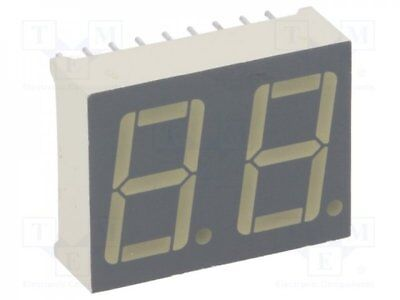 1 pcs Display: LED; 7-segment; 14mm; red; 8-24mcd; cathode; No.char:2