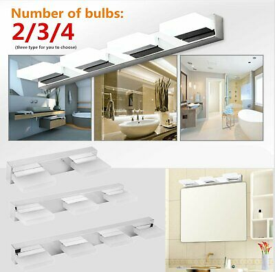 Modern Bathroom Vanity LED Light Crystal Front Mirror Toilet Wall Lamp Fixture B