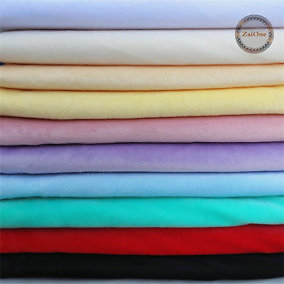 Solid Soft Warm Polar Fleece Fabric Cuddle Baby Plush Blanket Quilting Material