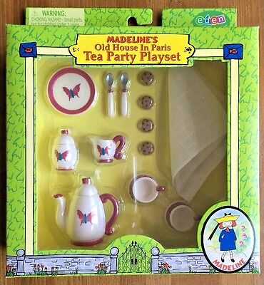 NEW Madeline's Old House In Paris Tea Party Playset #33816 RETIRED 2001