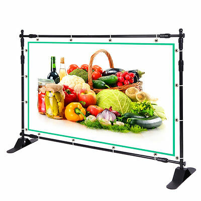 Large Tube 8x10 Step and Repeat Backdrop Telescopic Banner Stand Adjustable