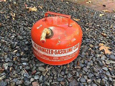 Vintage Eagle Galvanized Steel Gas Gasoline Can 2.5 Gal Usa