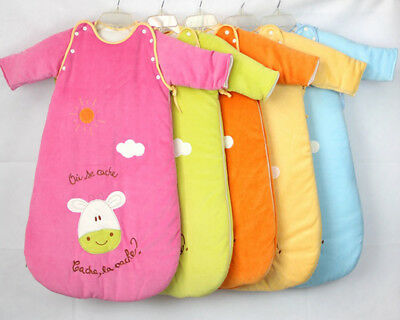 Baby Infant Sleeping Bag Sleepsack Travel Removable Sleeves Warm Unisex 0-18M