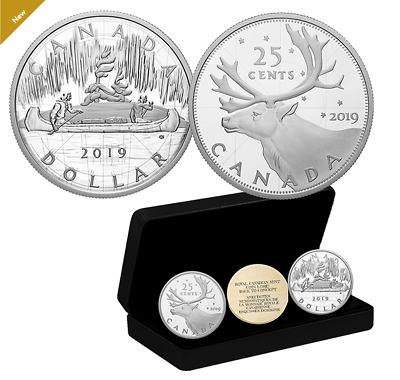 2 oz. 0.9999 Pure Silver Two-Coin Set - RCM Coin Lore: Back to Concept 2019