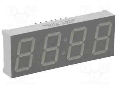 1 pcs Display: LED; 7-segment; 14.22mm; red; 3.2-5.5mcd; cathode; 0.56""