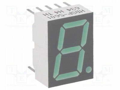 1 pcs Display: LED; 7-segment; 14.22mm; green; 0.9-2.5mcd; anode; 0.56""