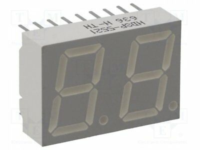 1 pcs Display: LED; 7-segment; 14.22mm; red; 0.9-2.8mcd; anode; No.char:2