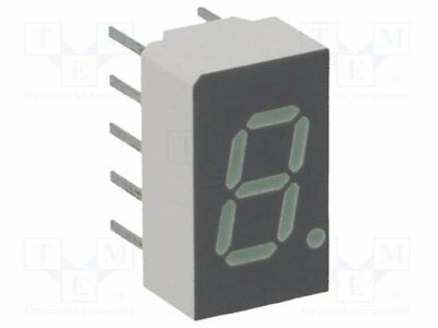 1 pcs Display: LED; 7-segment; 7.62mm; green; 0.86-6.8mcd; anode; 0.3""