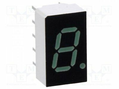 1 pcs Display: LED; 7-segment; 7.62mm; green; 0.86-6.8mcd; cathode; 0.3""