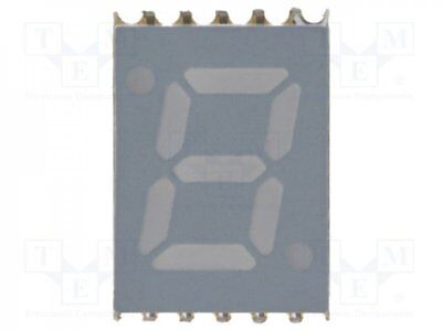 1 pcs Display: LED; SMD; 7-segment; 7mm; red; 3.4-7.5mcd; cathode; 0.28""