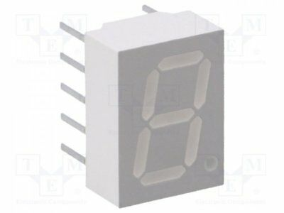 1 pcs Display: LED; 7-segment; 10mm; red; 0.42-1.2mcd; anode; No.char:1
