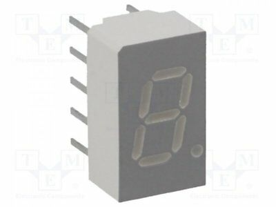 1 pcs Display: LED; 7-segment; 7.62mm; red; 6.9-14mcd; anode; No.char:1